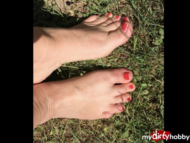 Video Thumbnail Füße im Grass
