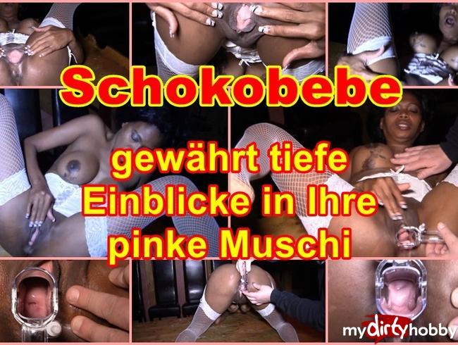 Video Thumbnail Schokobebe gewährt tiefe Einblicke in Ihre pinke Muschi.