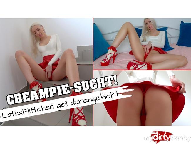 Video Thumbnail CREAMPIE-SUCHT! LatexFlittchen geil durchgefickt