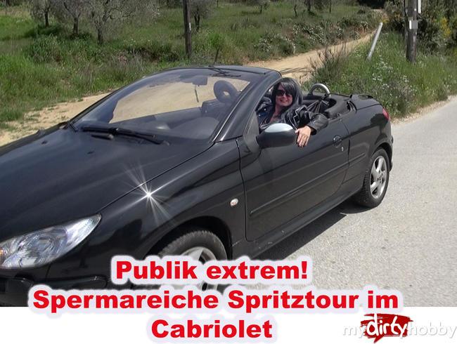 Video Thumbnail PUBLIK EXTREM! ! Sperma reiche Spritztour im Cabriolet