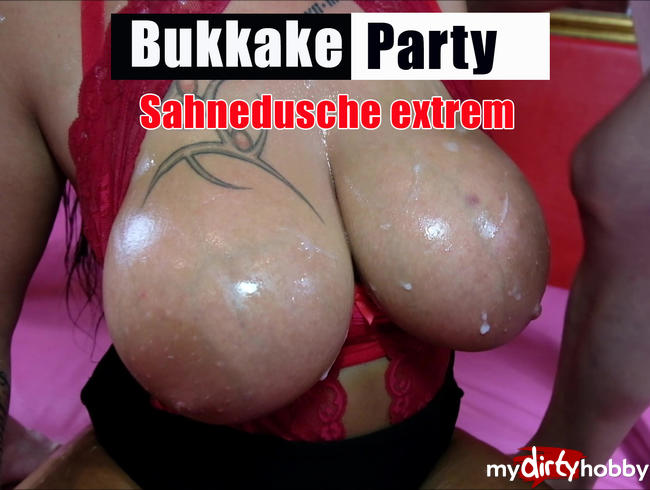 Video Thumbnail Bukkakeparty, Sahnedusche extrem
