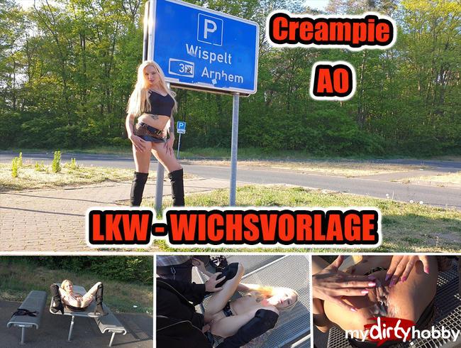Video Thumbnail LKW-Wichsvorlage AO... Creampie... Parkplatzsex