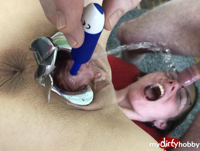 Video Thumbnail Pissloch mit Vibrator gefickt