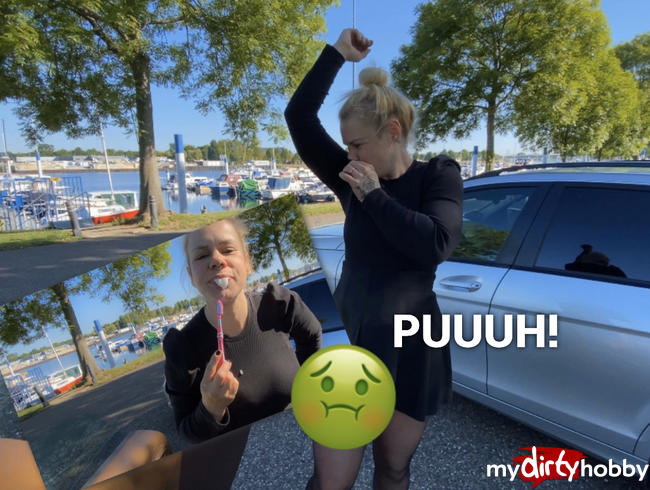 Video Thumbnail Spermazahnpasta Public duftend abgeblasen auf dem Yachthafen