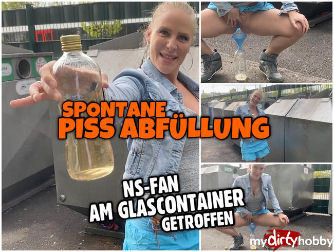 Video Thumbnail Spontane PUBLIC PISS Abfüllung | Fan am Glas Container getroffen