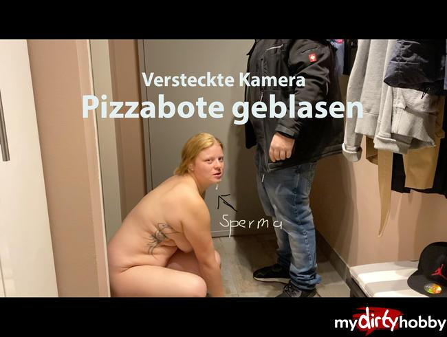 Video Thumbnail Nackt Pizza vom Lieferdienst empfangen.  Der Bote spritzt mir ins Gesicht