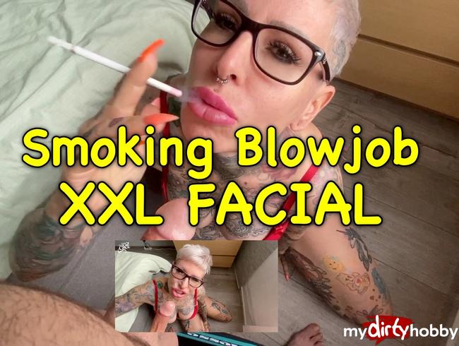 Video Thumbnail Smoking Blowjob mit XXL Facial