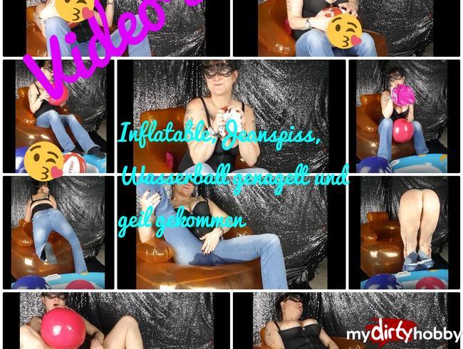 Video Thumbnail Inflatable,Jeanspiss, Wasserball genagelt und geil gekommen