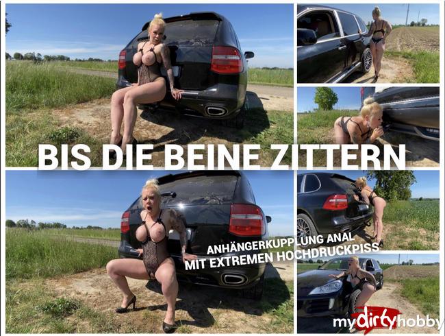 Video Thumbnail BIS DIE BEINE ZITTERN - Anhängerkupplung Anal mit extremen Hochdruckpiss