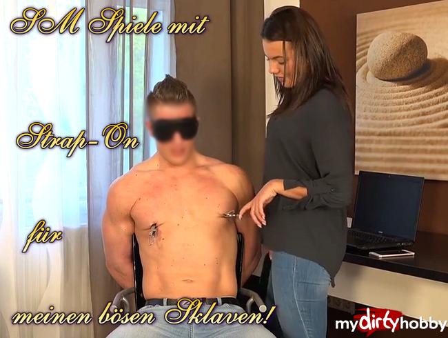 Video Thumbnail SM Spiele mit Strap-On für meinen bösen Sklaven!