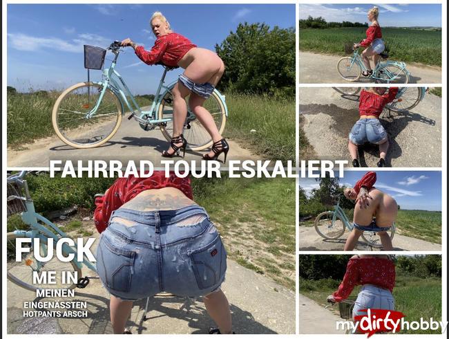 Video Thumbnail FAHRRAD TOUR ESKALIERT | fuck me in meinen eingenässten HOTPANTS ARSCH