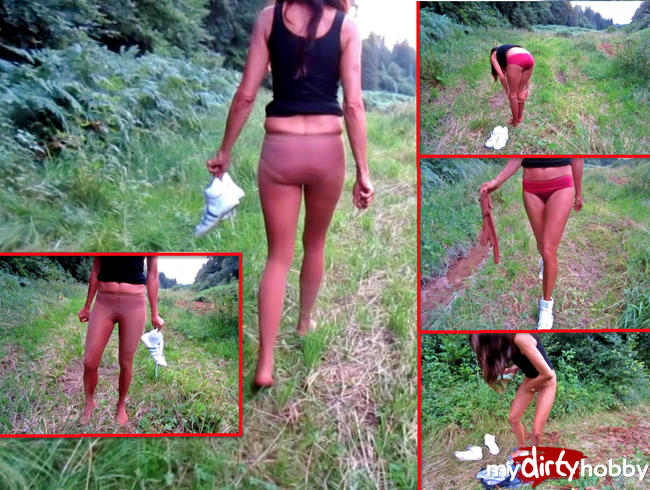 Video Thumbnail Natursekt in der Natur - Piss + Strip in FSH + Slip im Wald