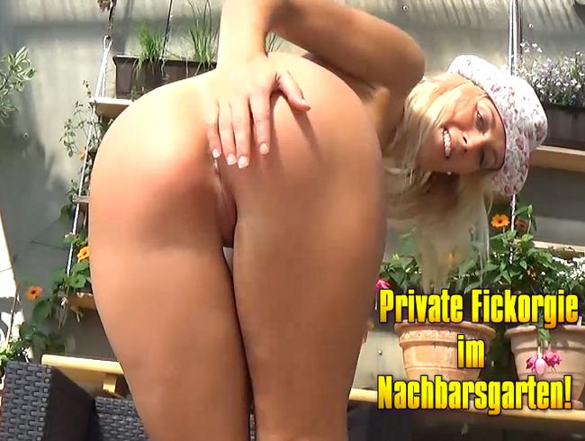 Video Thumbnail Private Fickorgie im Nachbarsgarten!