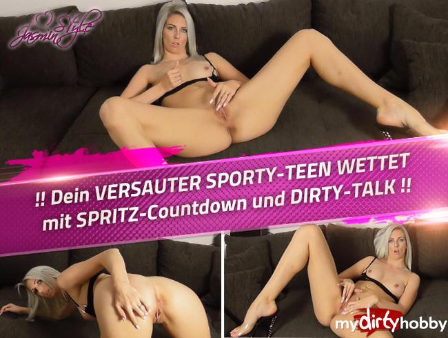Video Thumbnail !! Dein VERSAUTER SPORTY-TEEN WETTET mit SPRITZ-Countdown und DIRTY-TALK !!