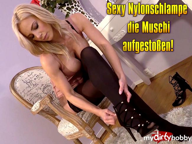 Video Thumbnail Sexy Nylonschlampe die Muschi aufgestoßen!