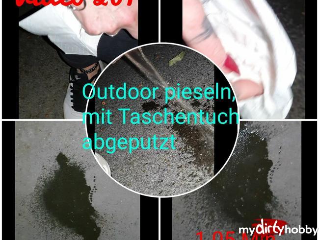 Video Thumbnail Outdoor pieseln und Taschentuch abgeputzt