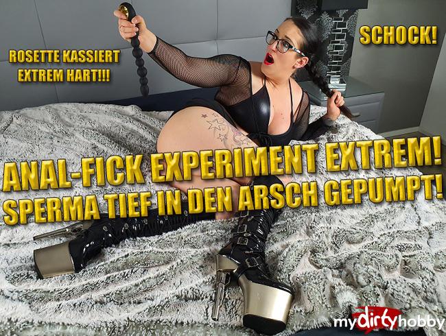 Video Thumbnail Anal-Fick-Experiment! Sperma tief in den Arsch Gepumpt!