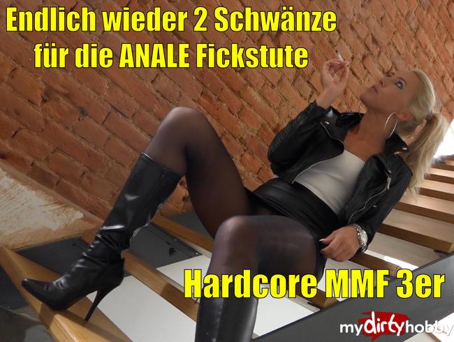 Daynia - Endlich wieder 2 Schwänze für die anale Fickstute |Der Mega Hardcore 3-Loch MMF-Dreier!