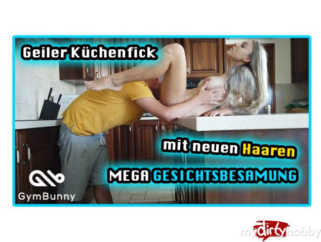 Video Thumbnail Geiler Küchenfick mit neuen HAAREN und MEGA Gesichtsbesamung