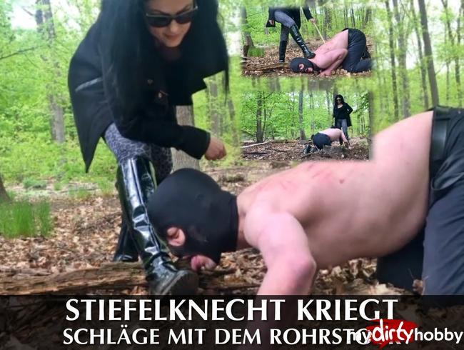 Video Thumbnail Stiefelknecht kriegt Schläge mit dem Rohrstock