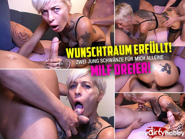 Video Thumbnail WUNSCHTRAUM ERFÜLLT !! Zwei Schwänze für Tattoo-MILF Vicky