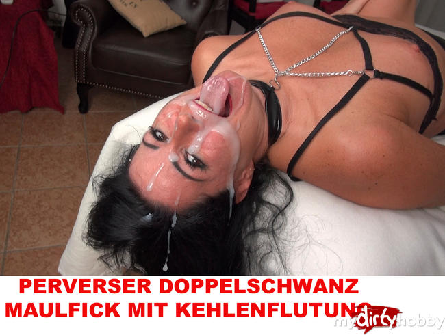 Video Thumbnail PERVERSER DOPPELSCHWANZ MAULFICK MIT KEHLENFLUTUNG!!