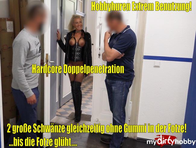 Video Thumbnail Die Hardcore Hobbyhuren EXTREM Benutzung | 2 große Prügel GLEICHZEITIG AO in der Fotze!