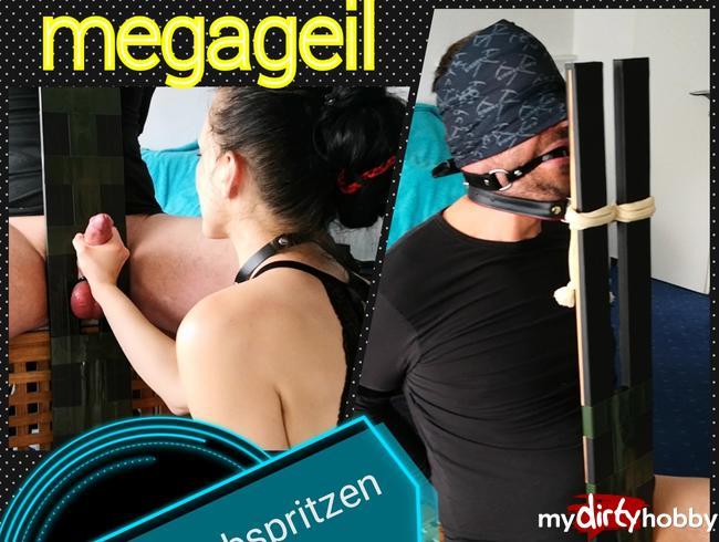 Video Thumbnail Schwanz am Pranger zwei Mal MEGA zum Abspritzen gebracht ;-