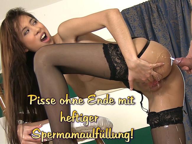 Video Thumbnail Pisse ohne Ende mit heftiger Spermamaulfüllung!
