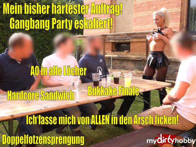 Video Thumbnail Mein bisher HÄRTESTER Auftrag   Gangbang Bukkake-Anal-Party eskaliert EXTREM!!!