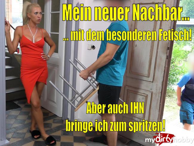 Video Thumbnail Mein neuer Nachbar mit dem ganz besonderen Fetisch | XXL Spermaexplosion nach ultimativen Fußsex!