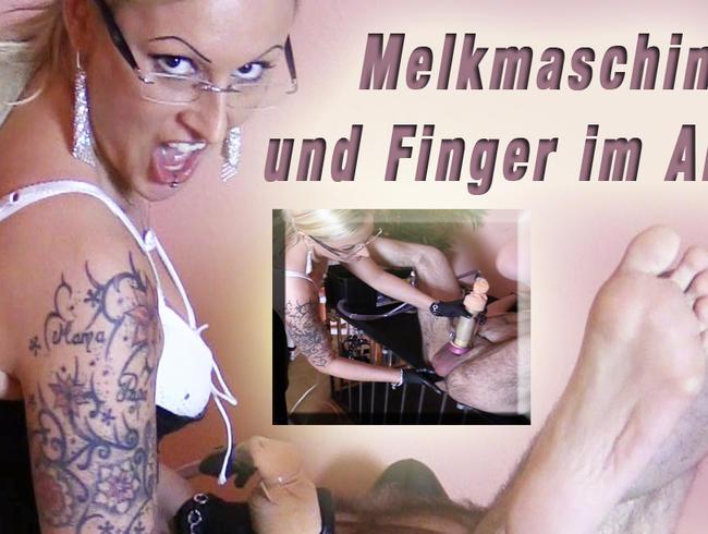 Video Thumbnail Melkmaschine und Finger im Arsch - Da drehst du durch!