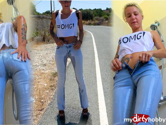 Video Thumbnail Das erste mal !! Jeans Piss, Jeans-Dusche und nem feuchtem Orgasmus ...