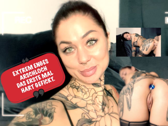 Video Thumbnail EXTREM: enges Arschloch zum ersten Mal hart gefickt.