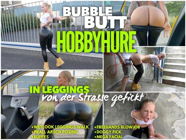 Video Thumbnail BUBBLE BUTT Hobbyhure   In Leggings von der Strasse gefickt