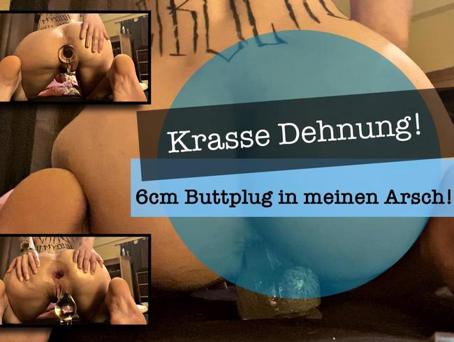 Video Thumbnail Krasse Dehnung! 6cm Buttplug in meinen Arsch