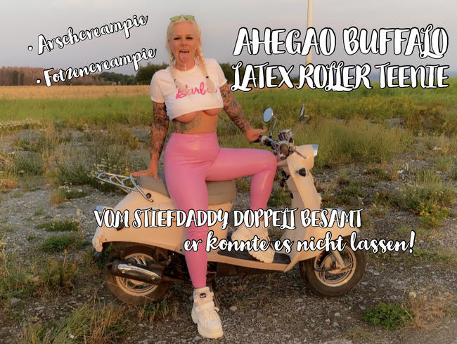 Video Thumbnail AHEGAO BUFFALO LATEX ROLLER TEENIE - ARSCHCREAMPIE & FOTZENCREAMPIE - doppelt besamt vom Stiefdaddy!