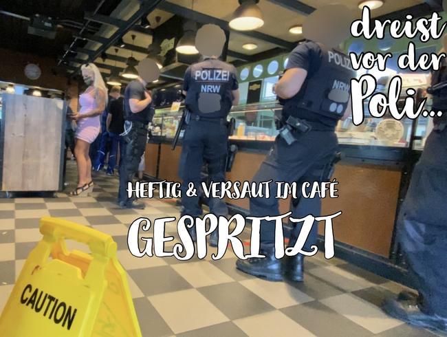 Video Thumbnail HEFTIG & VERSAUT im Café gespritzt - dreist vor der Poli...