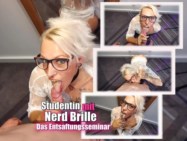 Video Thumbnail Sudentin mit Nerd Brille. Das Entsaftungsseminar