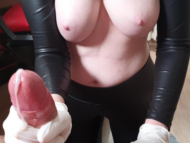Video Thumbnail Ölige Latex Handschuh Massage