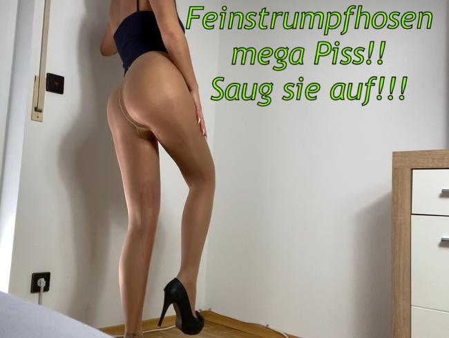 Video Thumbnail Feinstrumpfhosen mega Piss!! Saug sie auf!!!