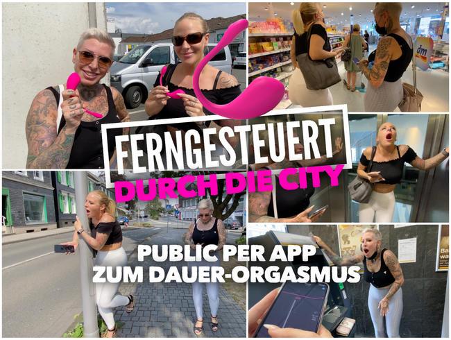 Video Thumbnail FERNGESTEUERT durch die City | PUBLIC per App zum DAUER ORGASMUS