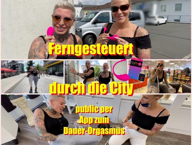 Video Thumbnail Ferngesteuert durch die City..Public per App zum Dauer-Orgasmus