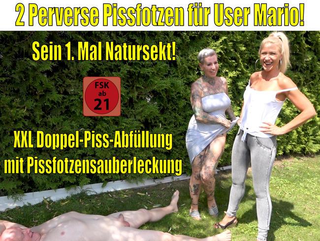 Daynia - 2 perverse Pissfotzen für User Mario | Sein 1. Mal Natursekt!
