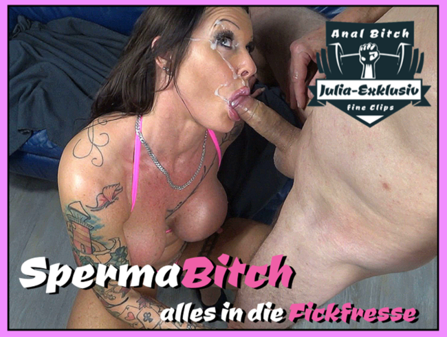 Video Thumbnail Spermabitch, alles in die Fickfresse