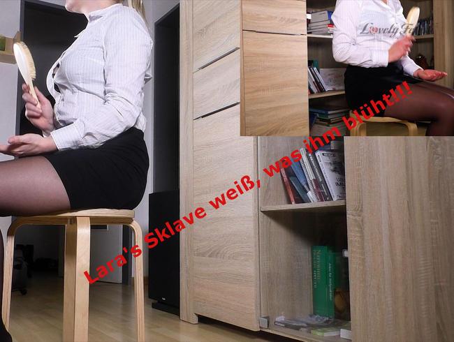Lovely-Fetish - FEMDom! Herrin Lara Legt Aron Über's Knie - Bild in Bild
