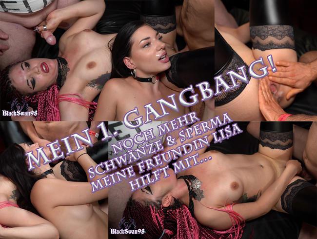 Video Thumbnail Mein 1. Gangbang - Freundin Lisa hilft mir