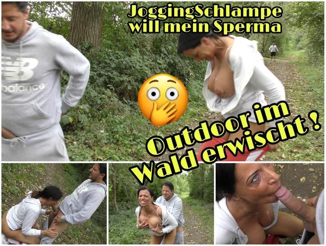 Video Thumbnail Outdoor im Wald erwischt... JoggingSchlampe möchte mein Sperma