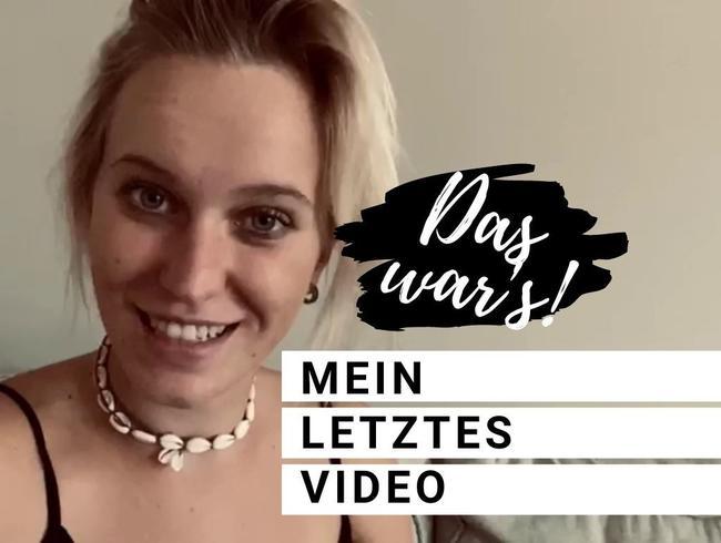 Video Thumbnail MEIN LETZTES VIDEO!