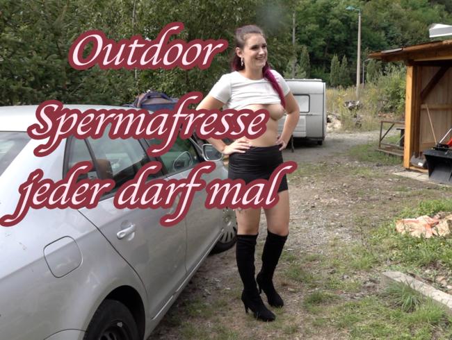 Video Thumbnail Mega Outdoor Spermafresse durchgefickt